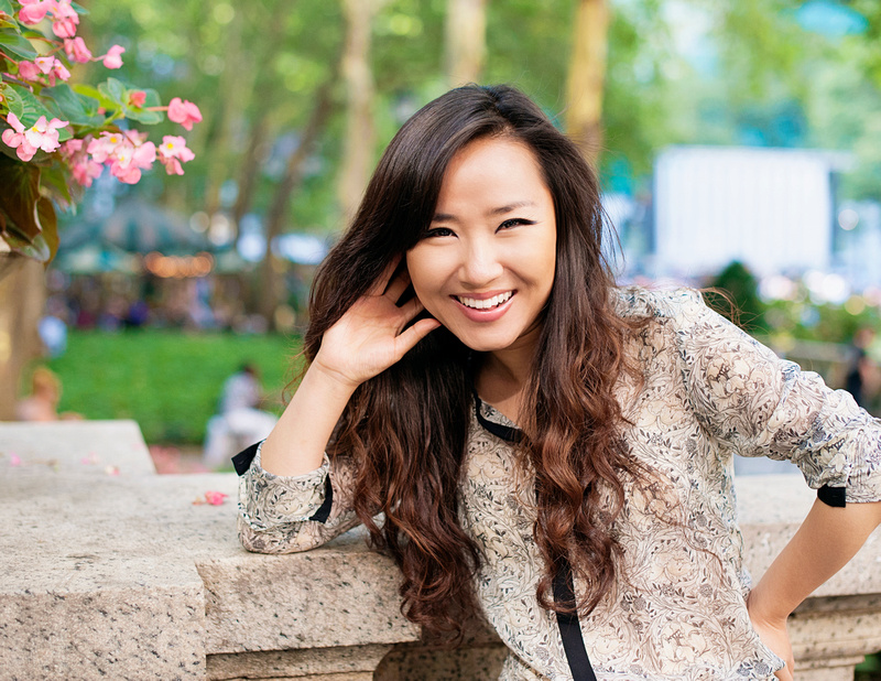 Lovely models in a photo session at Bryant Park