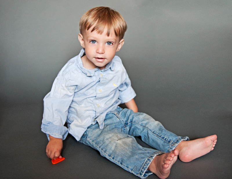 toddler boy in jeans for a photo shoot